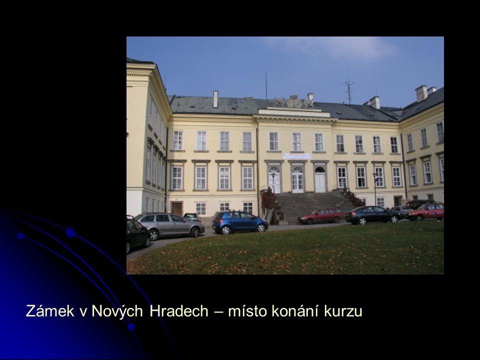 Zámek v Nových Hradech – místo konání kurzu