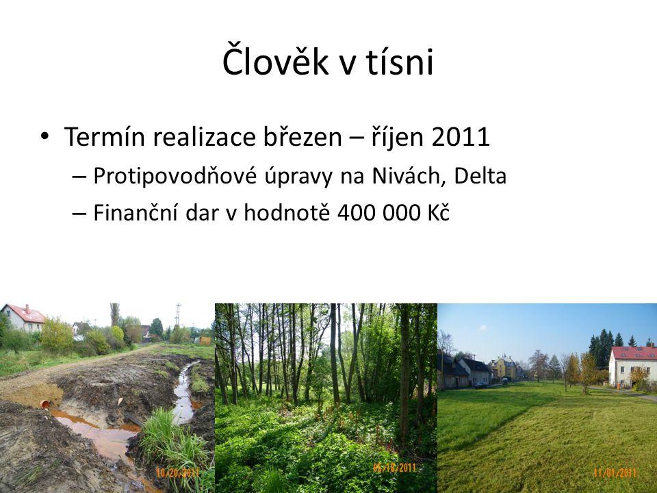 Člověk v tísni • Termín realizace březen – říjen 2011 – Protipovodňové úpravy na Nivách, Delta – Finanční dar v hodnotě 400 000 Kč