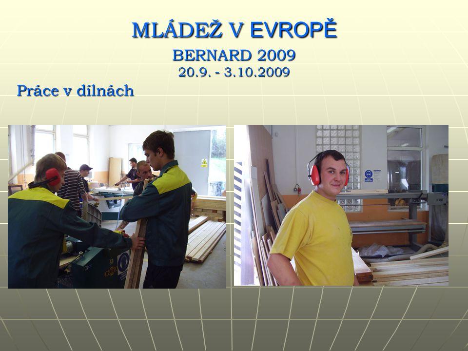 Práce v dílnách MLÁDEŽ V EVROPĚ BERNARD 2009 20.9. - 3.10.2009