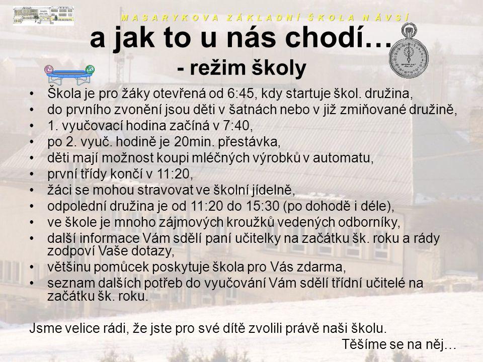 A co všechno ještě děláme? To se dozvíte na našich webových stránkách, které denně aktualizujeme! www.zsnavsi.cz