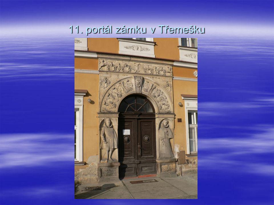 11. portál zámku v Třemešku