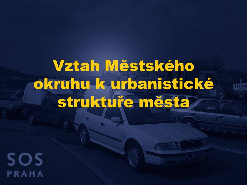 Vztah Městského okruhu k urbanistické struktuře města