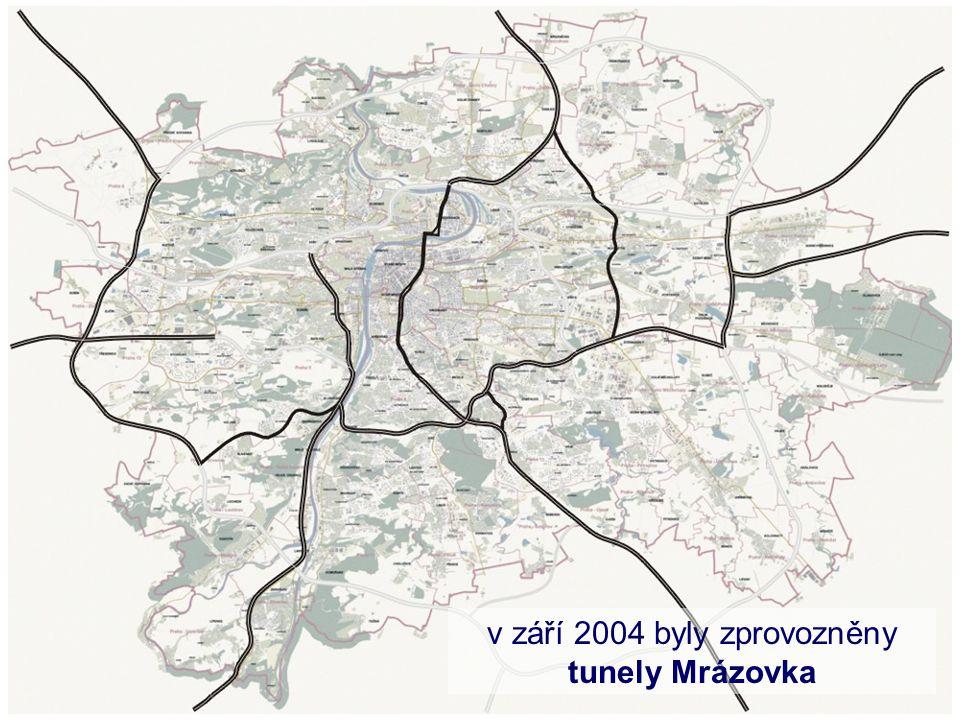 v září 2004 byly zprovozněny tunely Mrázovka