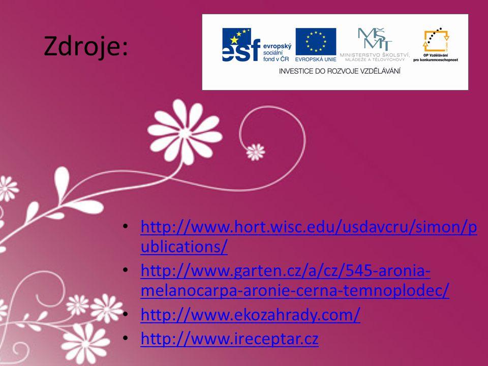 Zdroje: • http://www.hort.wisc.edu/usdavcru/simon/p ublications/ http://www.hort.wisc.edu/usdavcru/simon/p ublications/ • http://www.garten.cz/a/cz/54