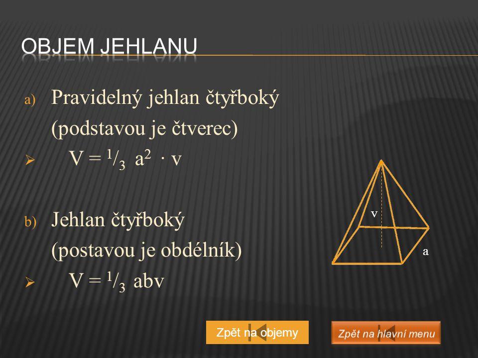  V = 4 / 3 πr 3 Zpět na objemy