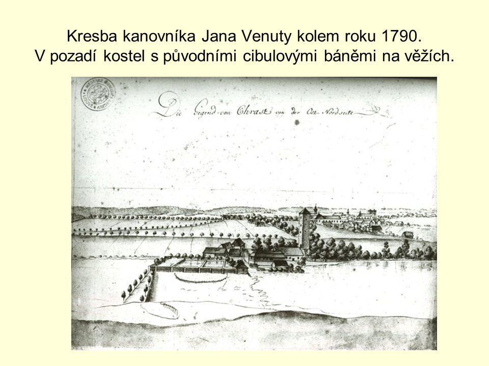 Kresba kanovníka Jana Venuty kolem roku 1790.