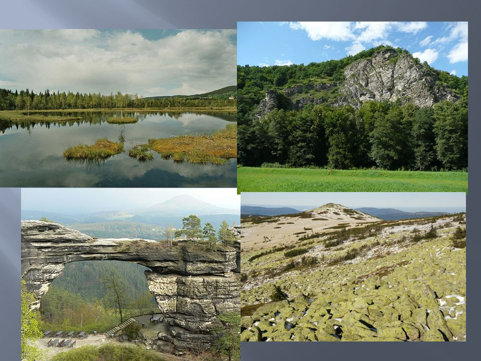  Chráněné krajinné oblasti jsou rozsáhlá území s harmonicky utvářenou krajinou, charakteristicky vyvinutým reliéfem, významným podílem přirozených ekosystémů lesních a trvalých travních porostů, s hojným zastoupením dřevin, popřípadě s dochovanými památkami historického osídlení.