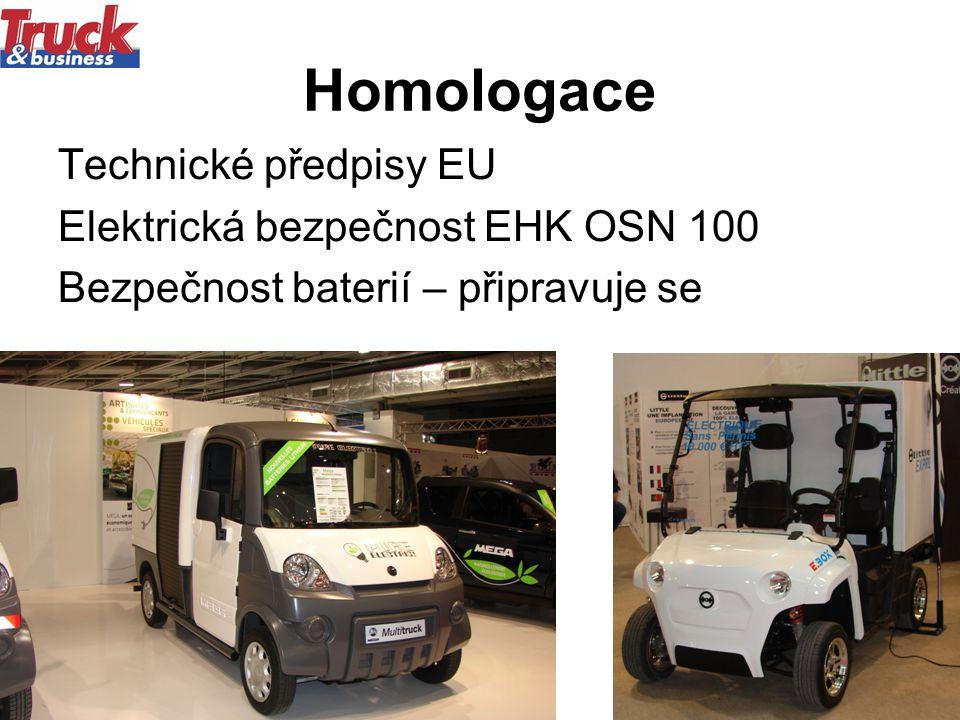 12.5.201112 Homologace Technické předpisy EU Elektrická bezpečnost EHK OSN 100 Bezpečnost baterií – připravuje se