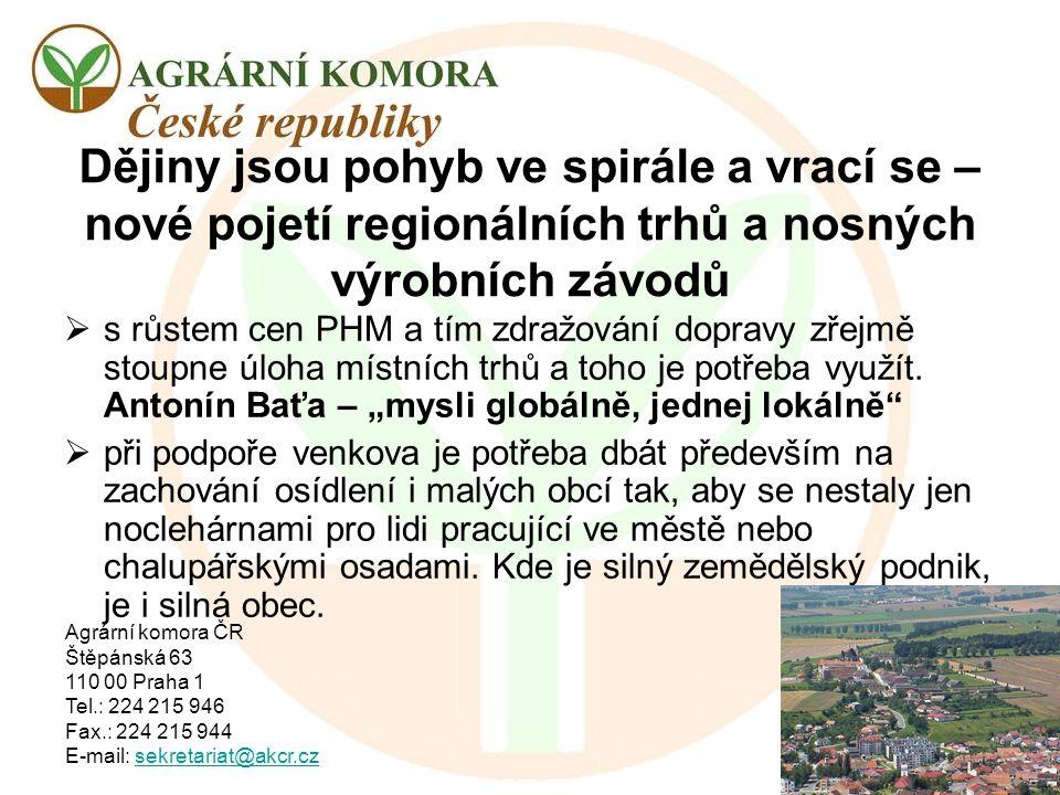 Agrární komora ČR Štěpánská 63 110 00 Praha 1 Tel.: 224 215 946 Fax.: 224 215 944 E-mail: sekretariat@akcr.czsekretariat@akcr.cz Dějiny jsou pohyb ve