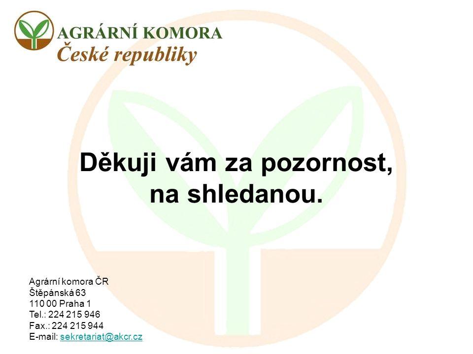 Agrární komora ČR Štěpánská 63 110 00 Praha 1 Tel.: 224 215 946 Fax.: 224 215 944 E-mail: sekretariat@akcr.czsekretariat@akcr.cz Děkuji vám za pozorno