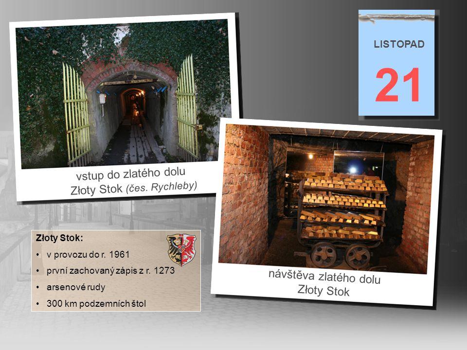 výklad tlumočníka Pawla Zarneckého ve zlatém dole 21 LISTOPAD posezení v restauraci ve zlatém dole (majitelka dolu Elżbieta Szumska v čele stolu)