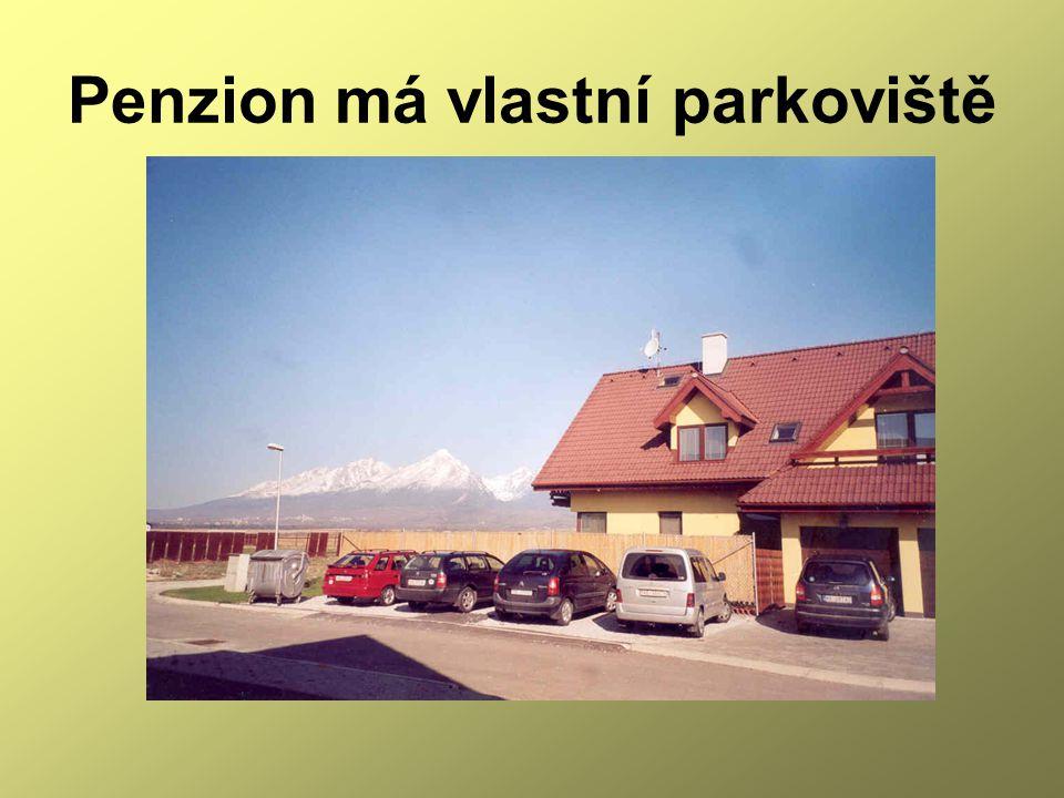 Penzion má vlastní parkoviště