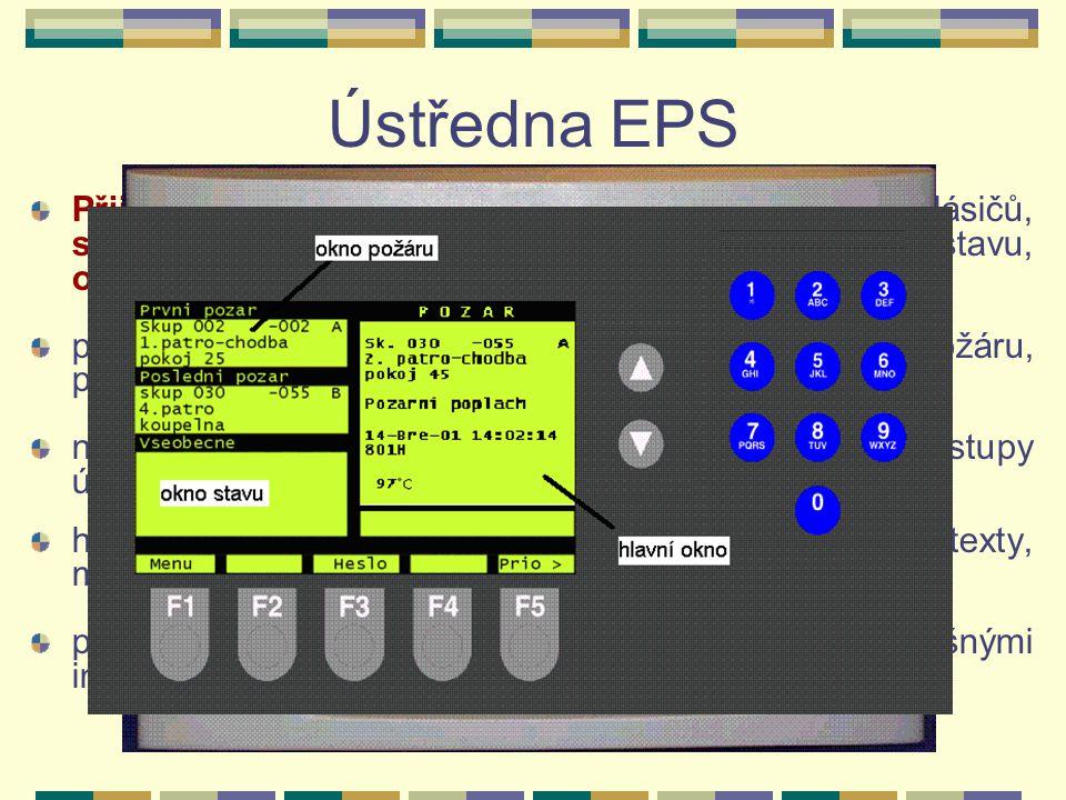 Ústředny EPS - různí výrobci