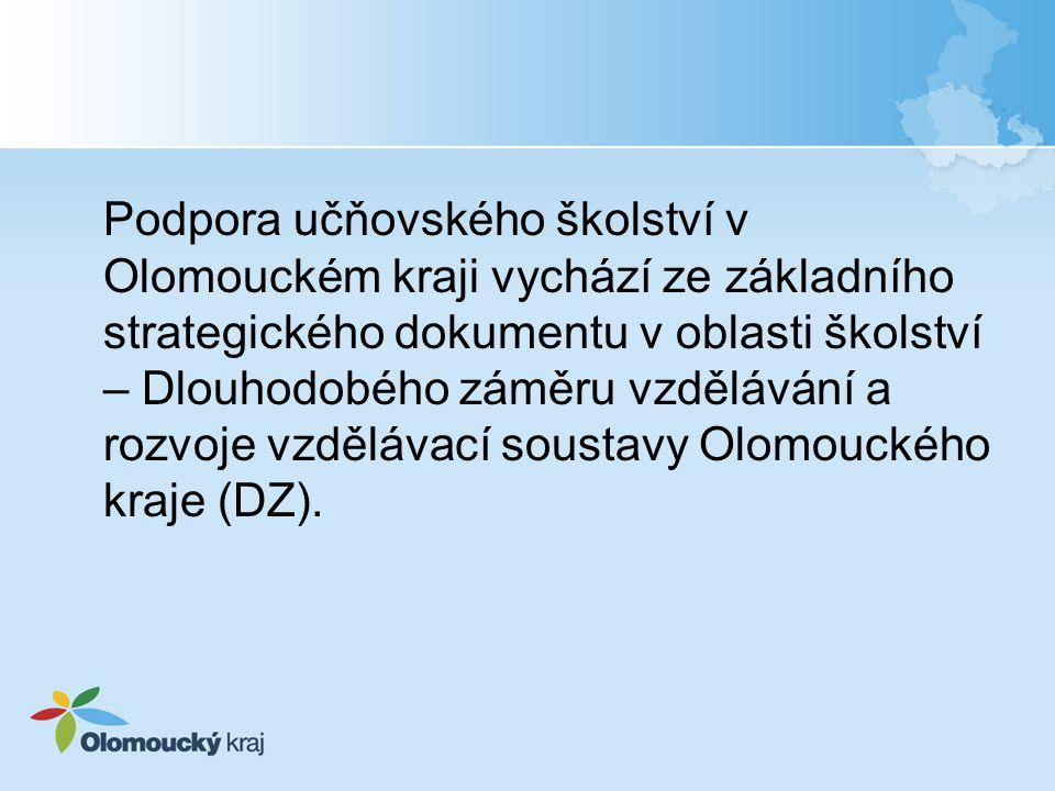 Podpora učňovského školství v Olomouckém kraji vychází ze základního strategického dokumentu v oblasti školství – Dlouhodobého záměru vzdělávání a roz