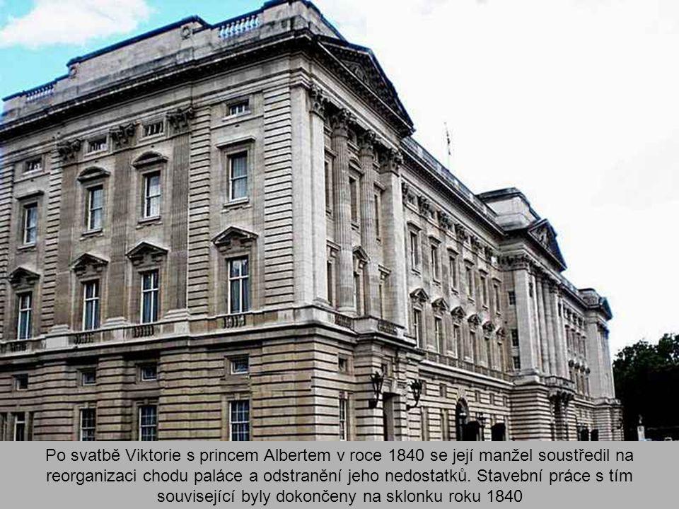 Po svatbě Viktorie s princem Albertem v roce 1840 se její manžel soustředil na reorganizaci chodu paláce a odstranění jeho nedostatků.
