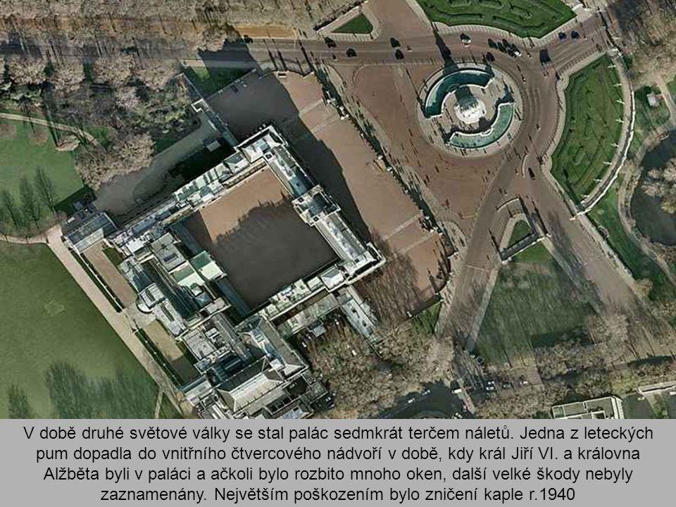 V době druhé světové války se stal palác sedmkrát terčem náletů.