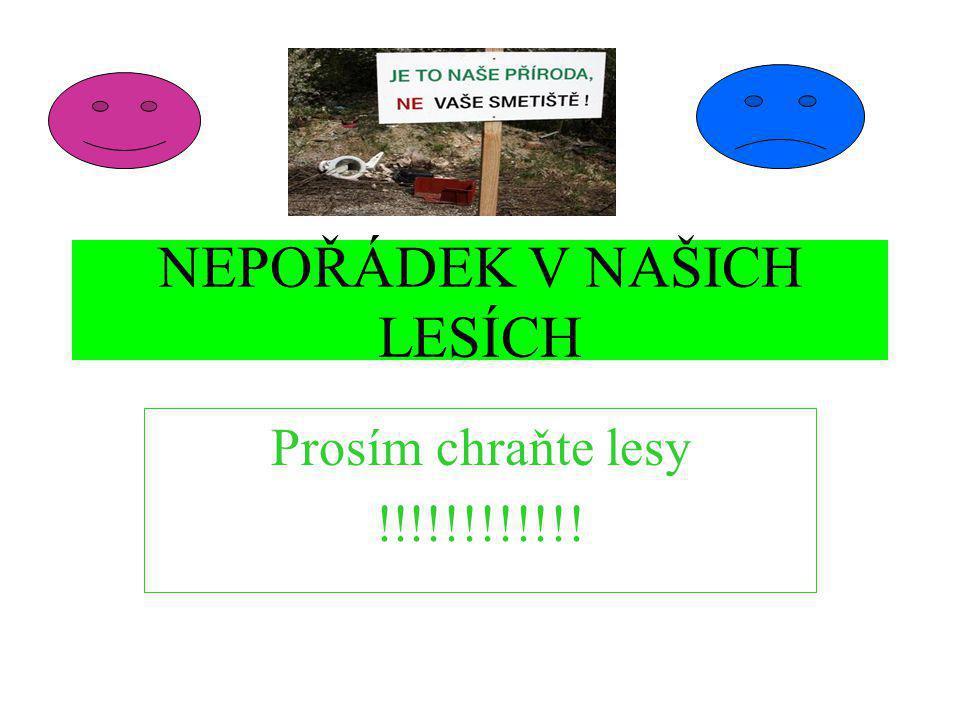 NEPOŘÁDEK V NAŠICH LESÍCH Prosím chraňte lesy !!!!!!!!!!!!