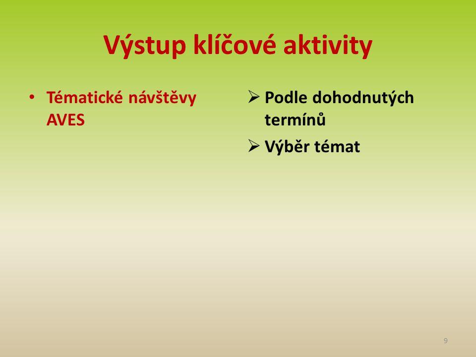 Výstup klíčové aktivity Přírodovědné pobytové výjezdy  4 výjezdy v průběhu projektu  5 denní pobyty  Doprovodné akce 10