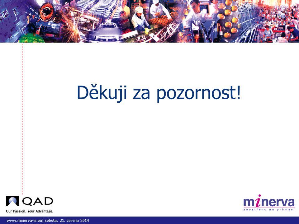 www.minerva-is.eu| sobota, 21. června 2014 Děkuji za pozornost!