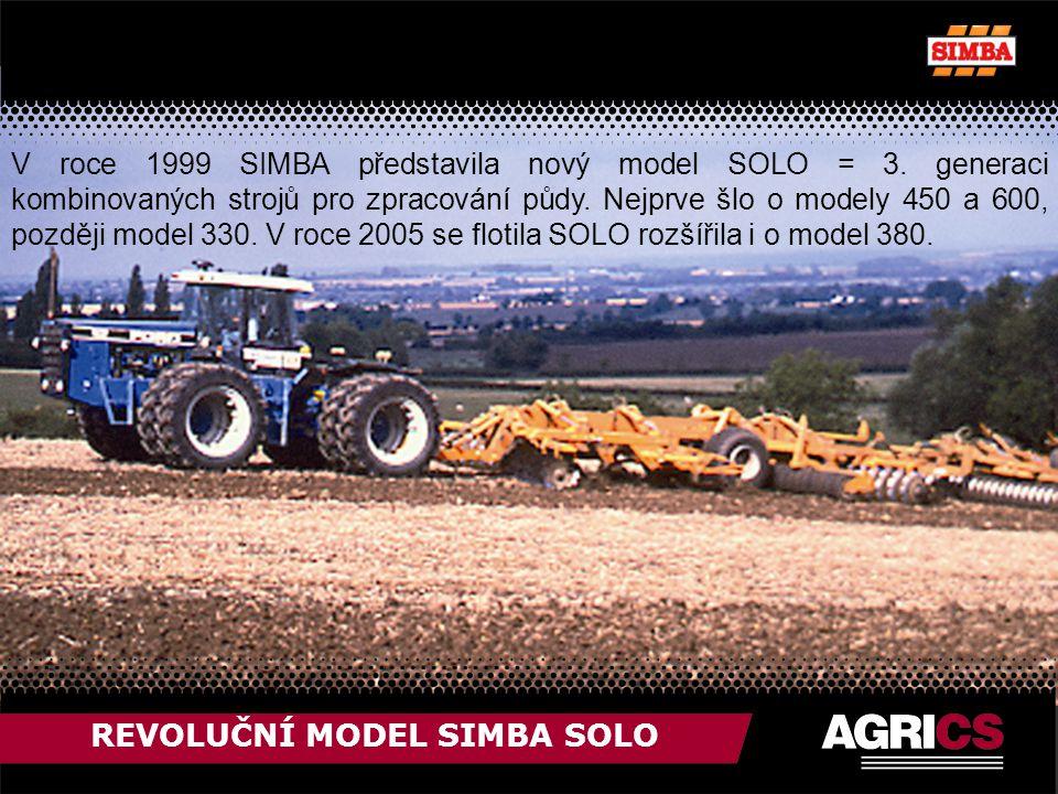 REVOLUČNÍ MODEL SIMBA SOLO V roce 1999 SIMBA představila nový model SOLO = 3.
