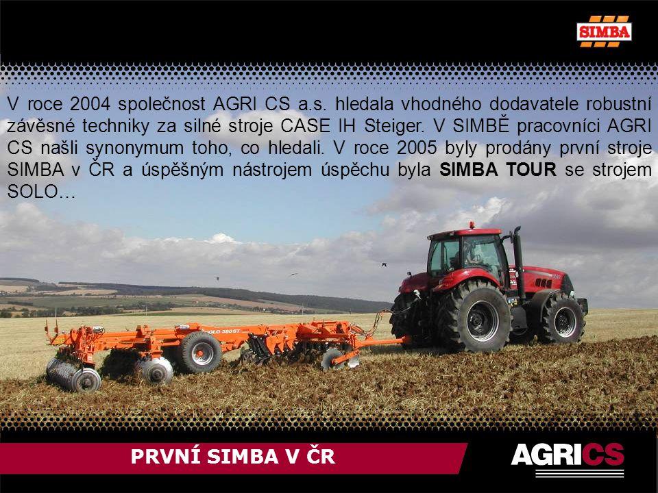 PRVNÍ SIMBA V ČR V roce 2004 společnost AGRI CS a.s.