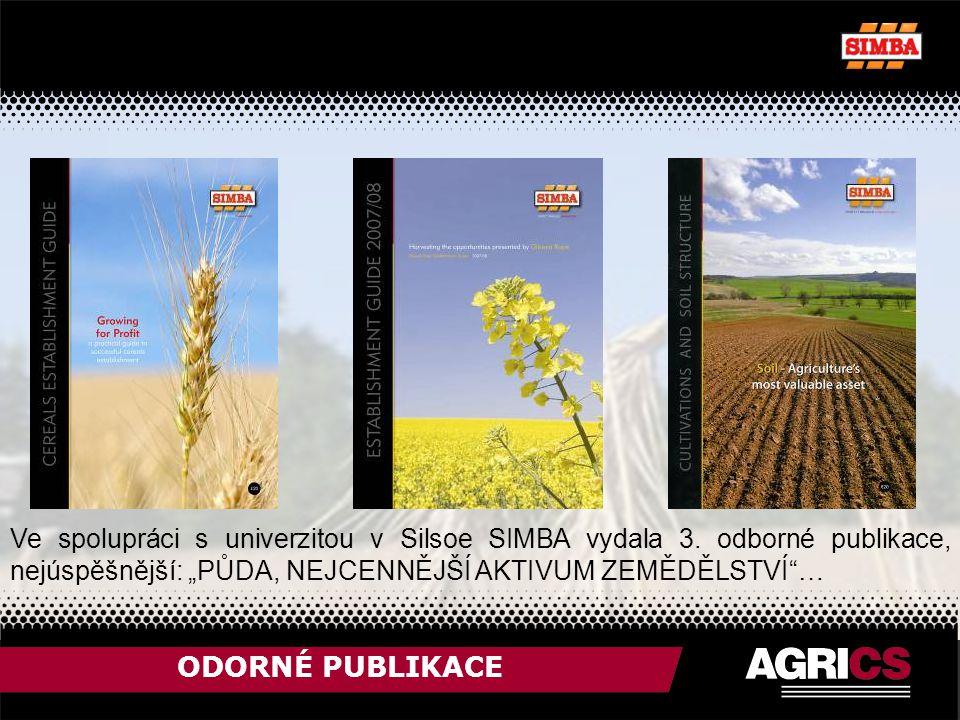 ODORNÉ PUBLIKACE Ve spolupráci s univerzitou v Silsoe SIMBA vydala 3.