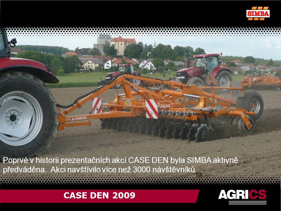 CASE DEN 2009 Poprvé v historii prezentačních akcí CASE DEN byla SIMBA aktivně předváděna.