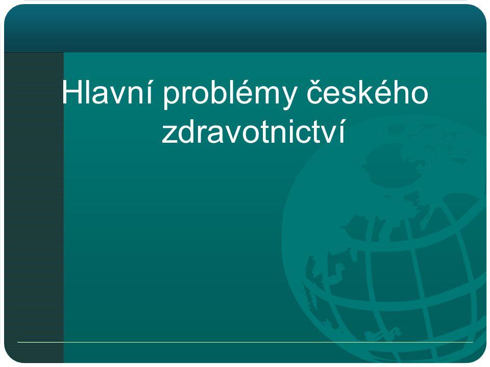 Hlavní problémy českého zdravotnictví