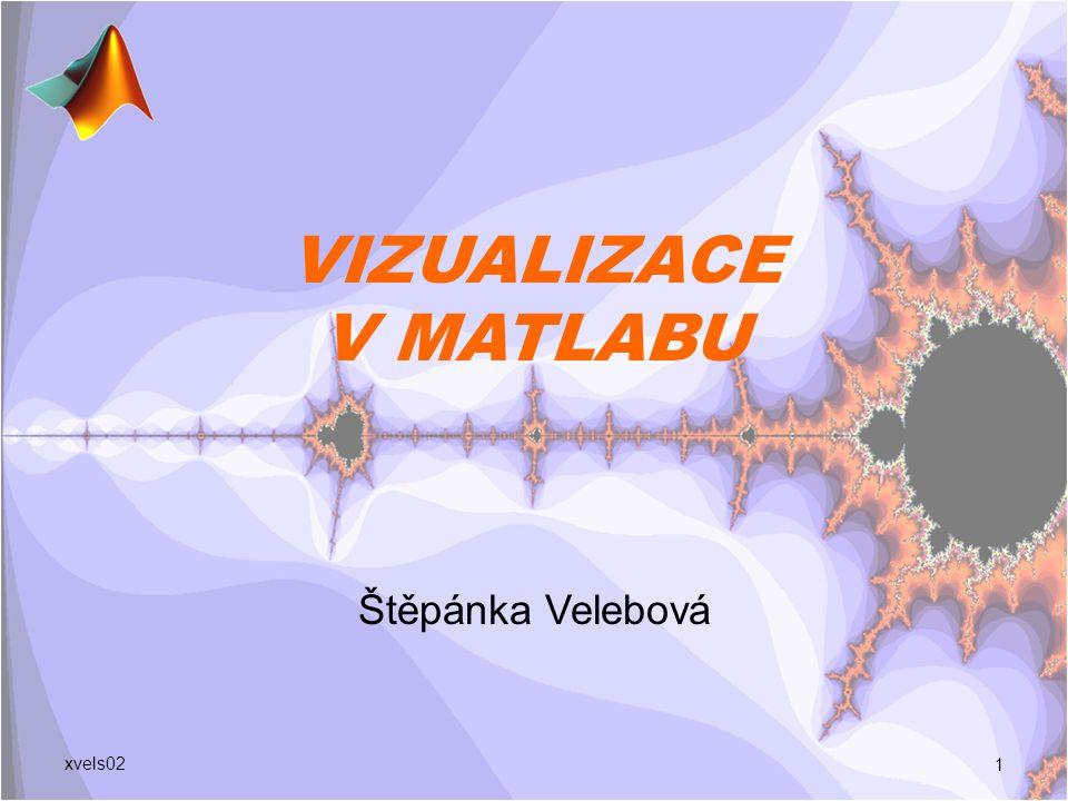 VIZUALIZACE V MATLABU Štěpánka Velebová 1 xvels02