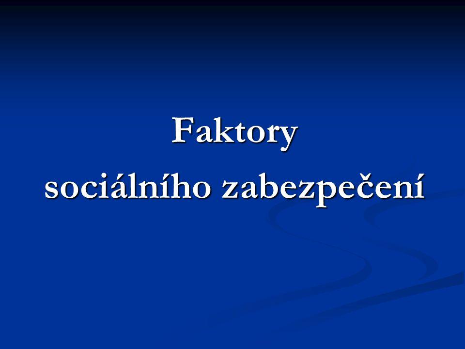 Sociální pojištění v ČR  řeší takové sociální situace, na které je možné se dopředu připravit, a to odkladem části finančních prostředků k řešení budoucí sociální situace.
