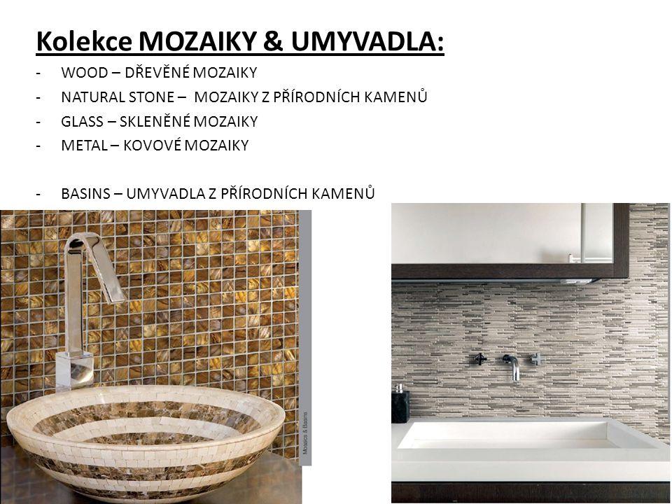 Katalog APARICI PORCELÁNICO Generální katalog 2013 APARICI PORCELÁNICO má černou barvu a je rozdělen dle kolekcí: MODERN: -obklady -dlažby LUXURY: -obklady -dlažby MOSAIC&BASINS -mozaiky -umyvadla V zadní části jsou uvedeny TECHNICKÉ INFORMACE: -technické parametry -balící list -specialní kusy: schodnice, sokly, řešení rohových prvků INDEX