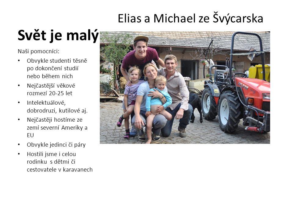 Svět je malý Elias a Michael ze Švýcarska Naši pomocníci: • Obvykle studenti těsně po dokončení studií nebo během nich • Nejčastější věkové rozmezí 20