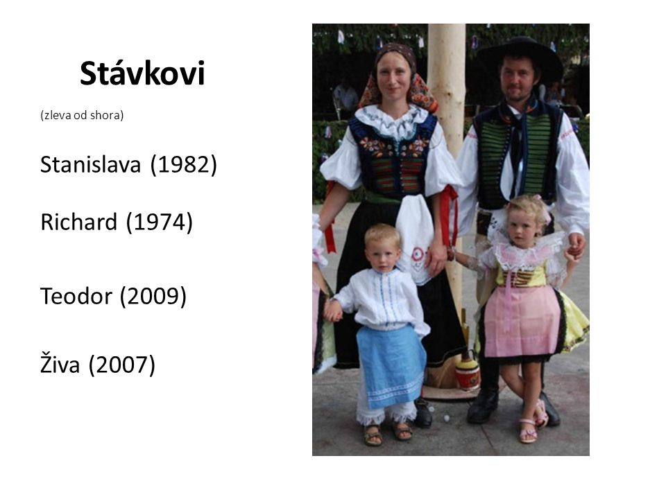 Stávkovi (zleva od shora) Stanislava (1982) Richard (1974) Teodor (2009) Živa (2007)