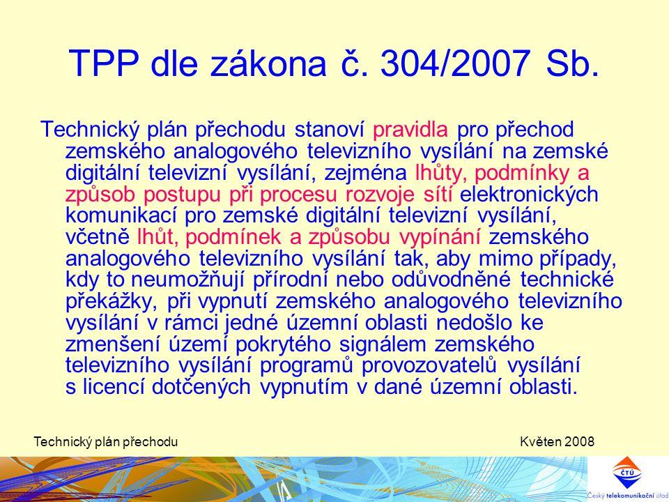 Květen 2008Technický plán přechodu Budoucí situace do ASO Standardní základní sítě Programy v období 2008– 11.11.2011 1 Síť pro ČT 2 NOVA 3 Prima, Z1, Óčko….