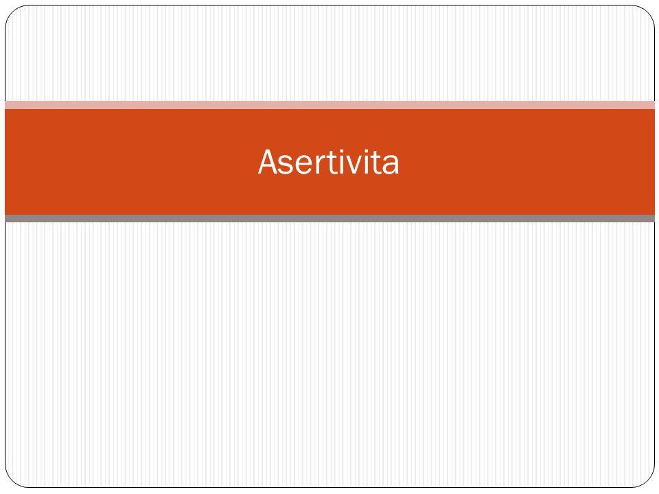 Typy chování  Agresivní  Pasivní  Asertivní