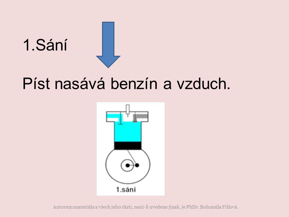 1.Sání Píst nasává benzín a vzduch. Autorem materiálu a všech jeho částí, není-li uvedeno jinak, je PhDr. Bohumila Fillová.