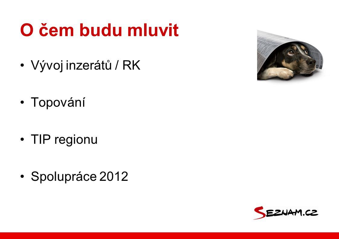 O čem budu mluvit •Vývoj inzerátů / RK •Topování •TIP regionu •Spolupráce 2012