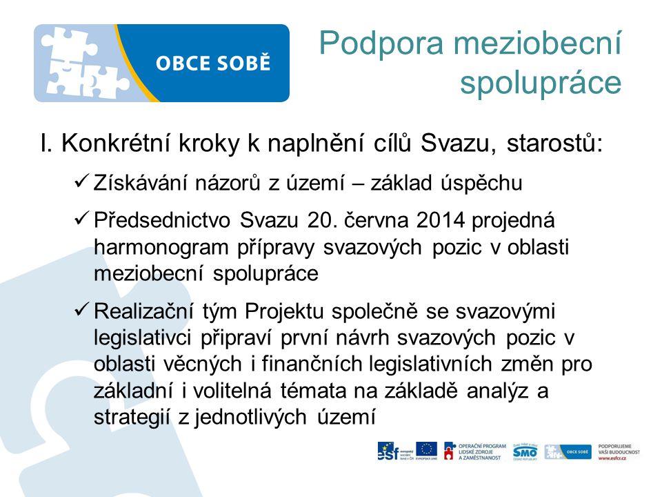 Podpora meziobecní spolupráce I.