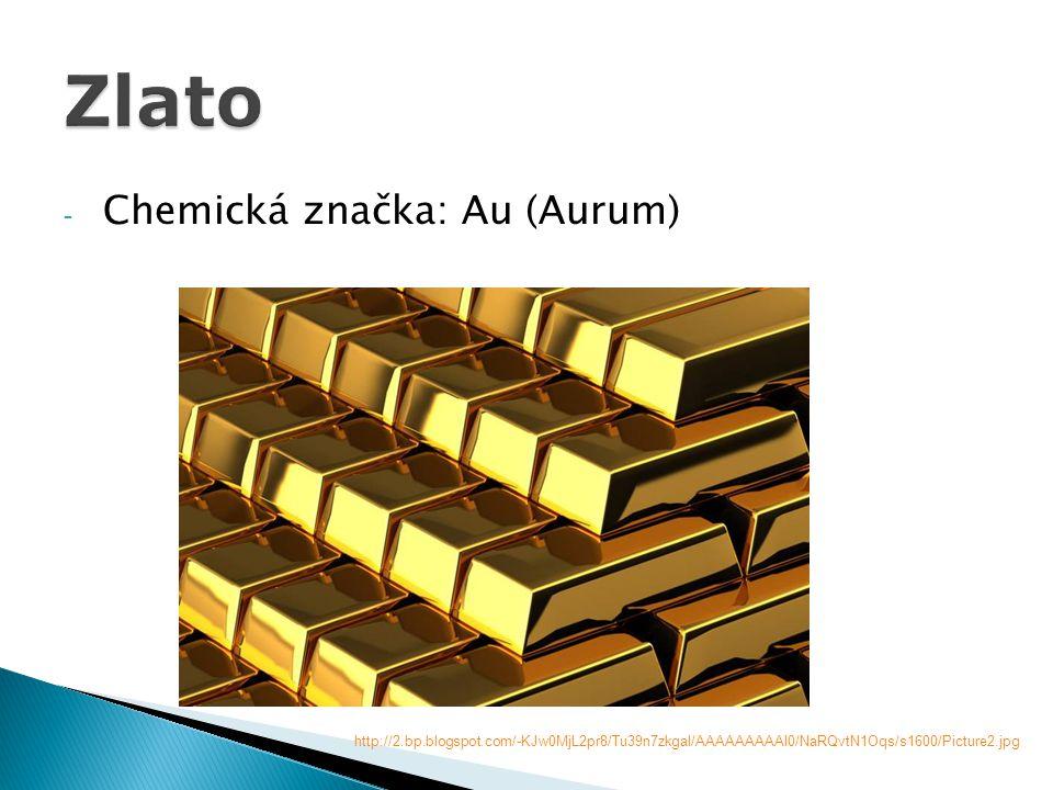 - Zlato je elektricky vodivý a chemicky odolný kov.