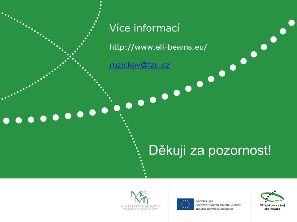 Děkuji za pozornost! Více informací http://www.eli-beams.eu/ ruzickav@fzu.cz