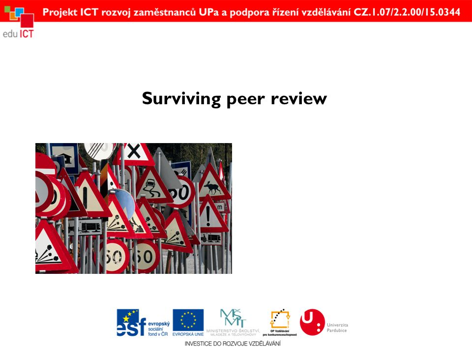 Surviving peer review
