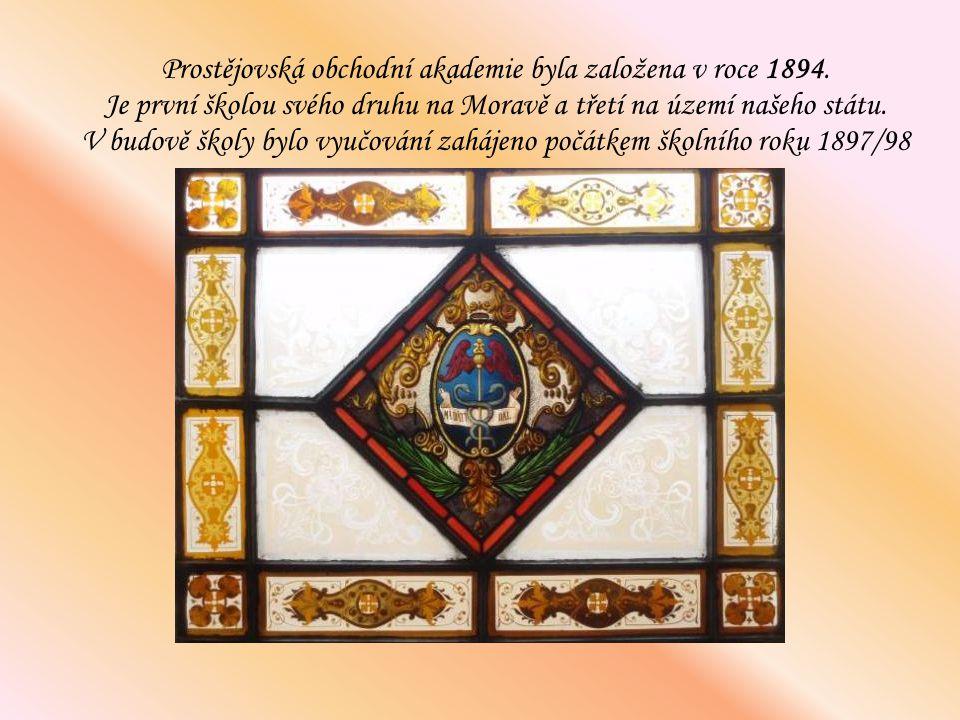 Prostějovská obchodní akademie byla založena v roce 1894. Je první školou svého druhu na Moravě a třetí na území našeho státu. V budově školy bylo vyu