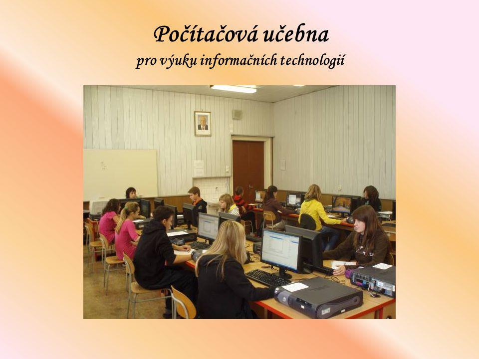 Počítačová učebna pro výuku informačních technologií