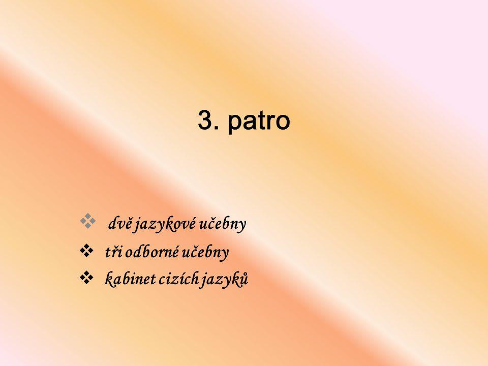 3. patro  dvě jazykové učebny  tři odborné učebny  kabinet cizích jazyků