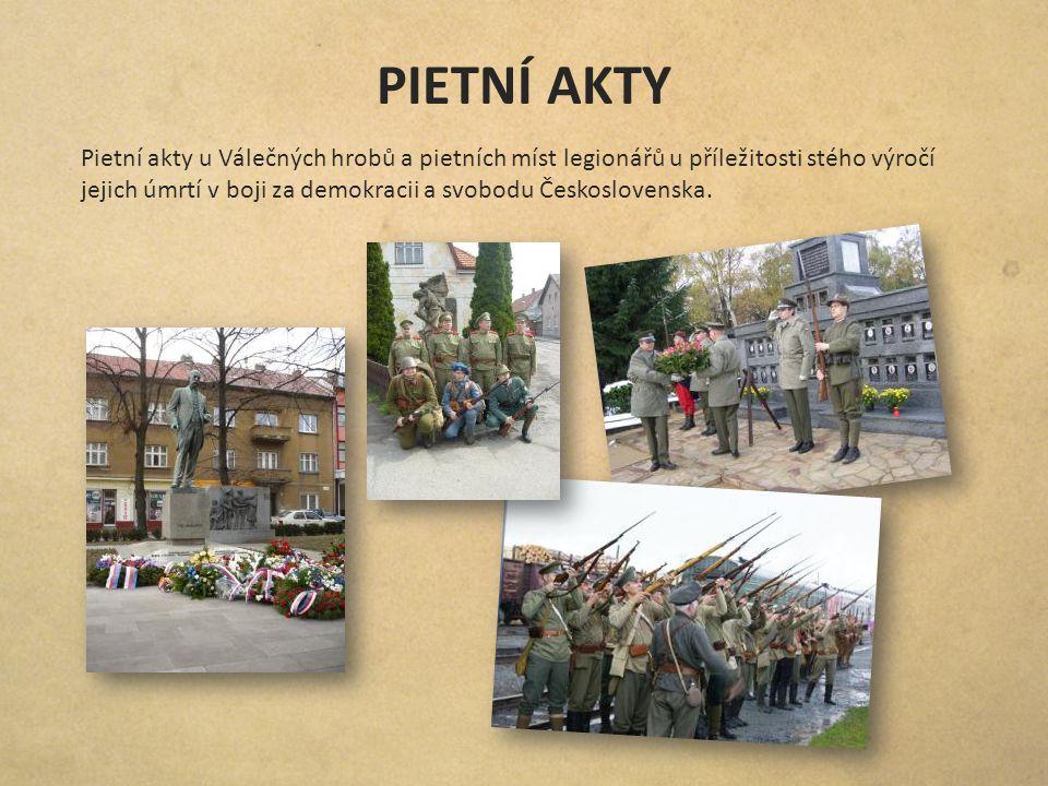 PIETNÍ AKTY Pietní akty u Válečných hrobů a pietních míst legionářů u příležitosti stého výročí jejich úmrtí v boji za demokracii a svobodu Českoslove