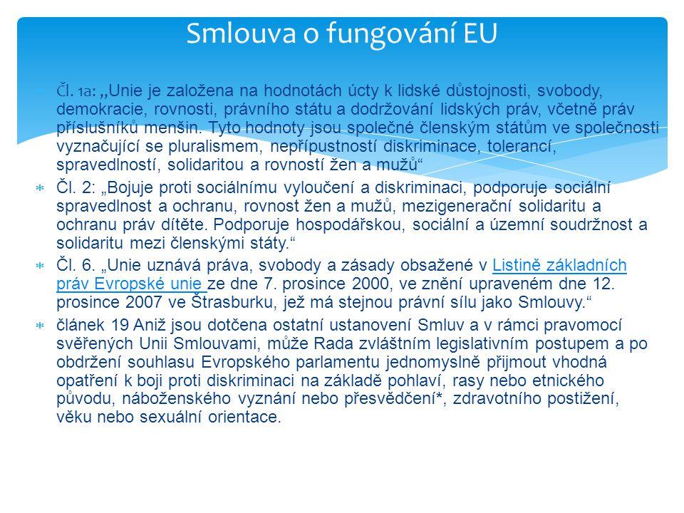  C-394/11 Belov  státní distribuční společnosti v některých bulharských městských částech – jejichž příznačným rysem je, že jsou obývané převážně příslušníky romské komunity – elektroměry ve výšce sedmi metrů na sloupech nacházejících se mimo obydlí odběratelů elektřiny  Ve smlouvách o dodávce elektřiny se distributor zavázal umístit elektroměry tak, aby odběratel mohl kontrolovat svůj odběr… je-li to však nezbytné pro ochranu života a zdraví občanů, jakož i majetku… jsou komerční elektroměry umístěny na obtížně přístupných místech, přičemž je distribuční podnik povinen zajistit na své náklady možnost vizuální kontroly do tří dnů od obdržení písemné žádosti odběratele  Pan Belov: dle jeho názoru - diskriminace na základě etnického původu - podána žádost o její odstranění ke Komisi pro ochranu před diskriminací – ta podala předběžnou otázku, SDEU ale neshledal svou pravomoc – KDZ není soud … ne všechna