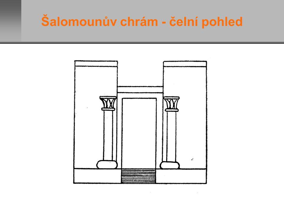 Šalomounův chrám - čelní pohled