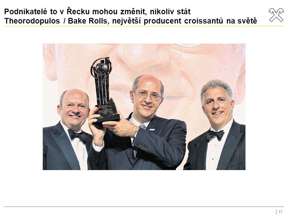 Podnikatelé to v Řecku mohou změnit, nikoliv stát Theorodopulos / Bake Rolls, největší producent croissantů na světě 17