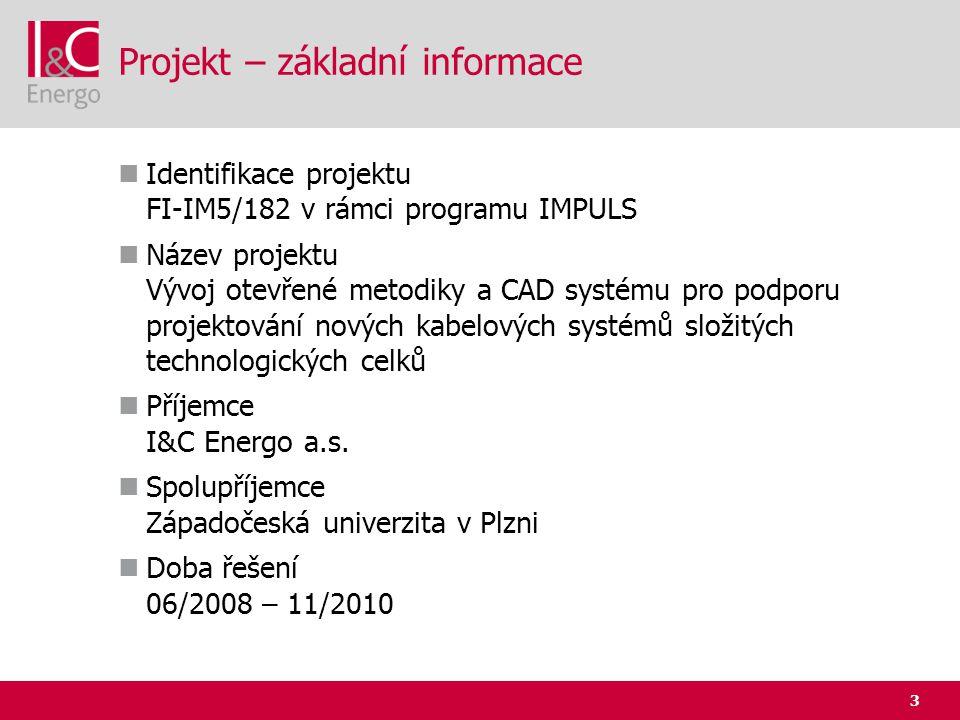 3 Projekt – základní informace  Identifikace projektu FI-IM5/182 v rámci programu IMPULS  Název projektu Vývoj otevřené metodiky a CAD systému pro p