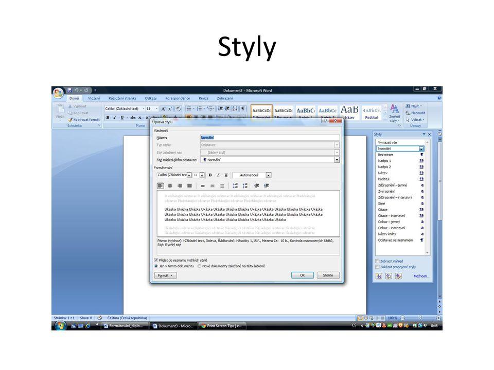 Změna formátu písma • různě pojmenované sady písem (fontů – např.